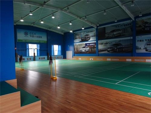 木地板球场